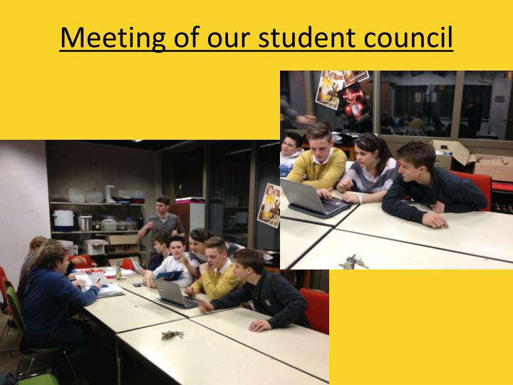 Meeting of our student council
