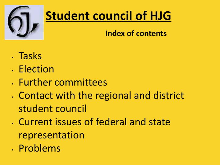 Student council of hjg