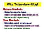 why teleunderwriting