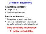 gridpoint ensembles