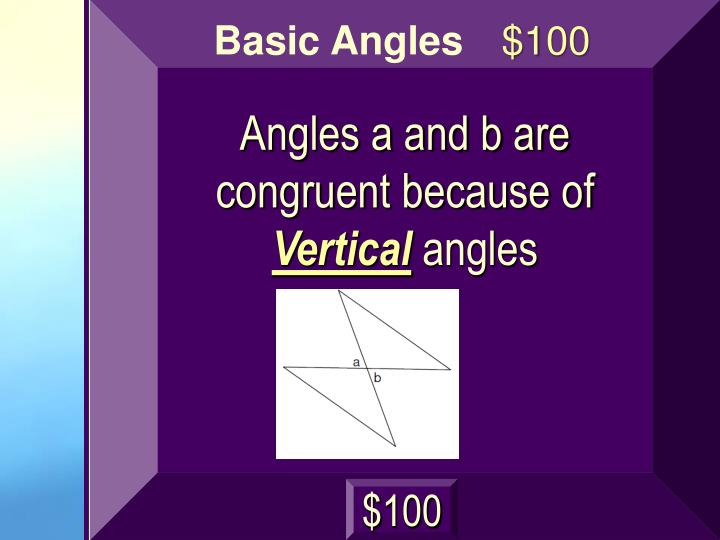 Angles a and b are congruent because of