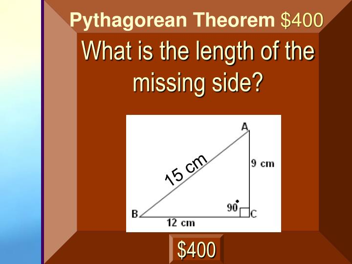 What is the length of the missing side?