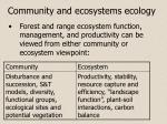 community and ecosystems ecology1