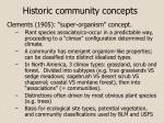 historic community concepts