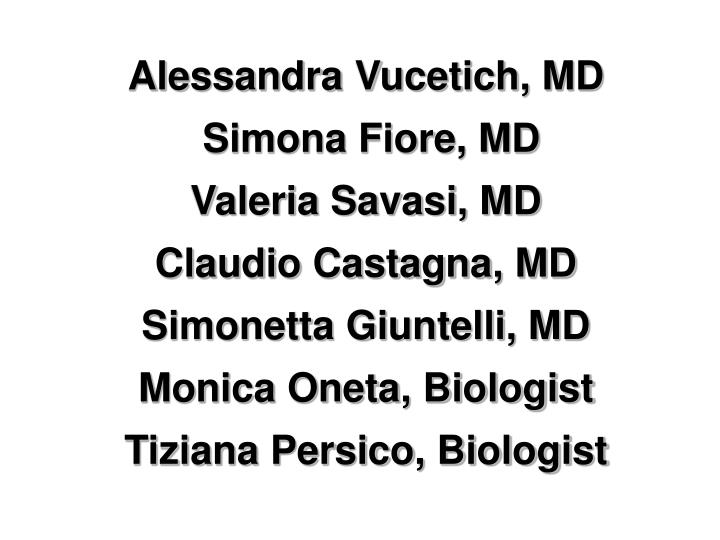Alessandra Vucetich, MD