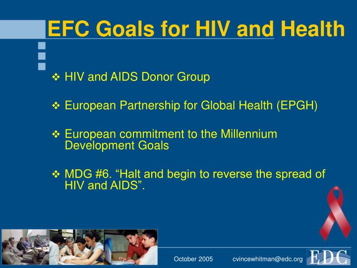 Efc goals for hiv and health
