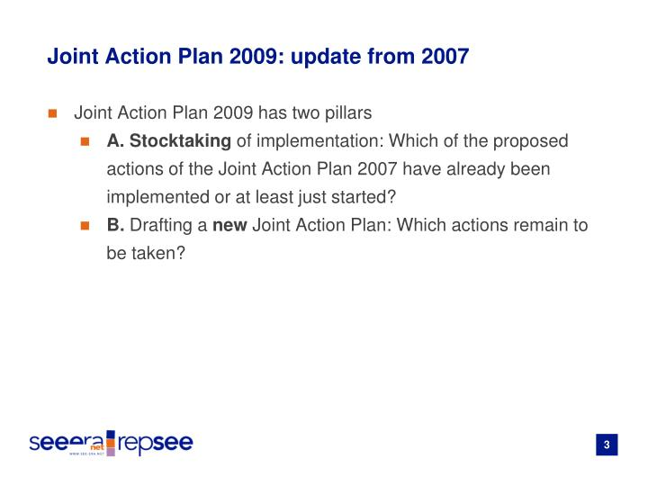 Joint action plan 2009 update from 2007
