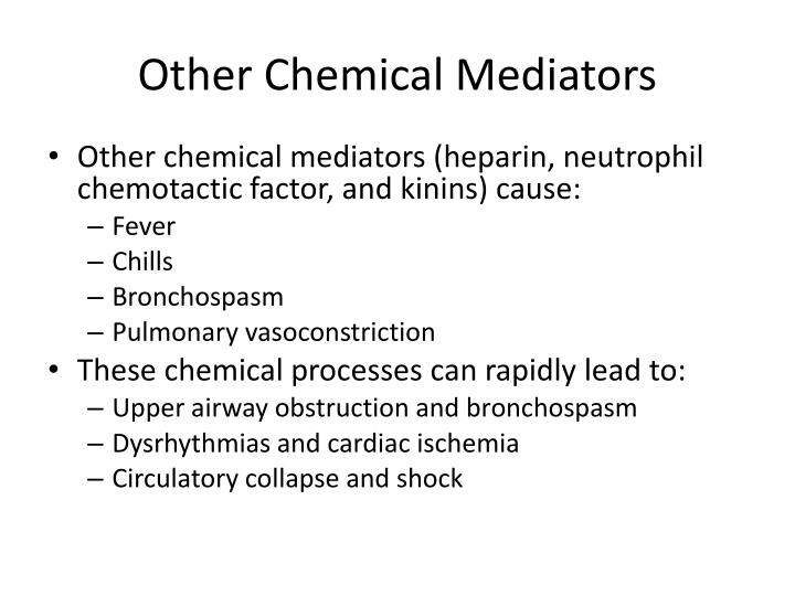 Other Chemical Mediators