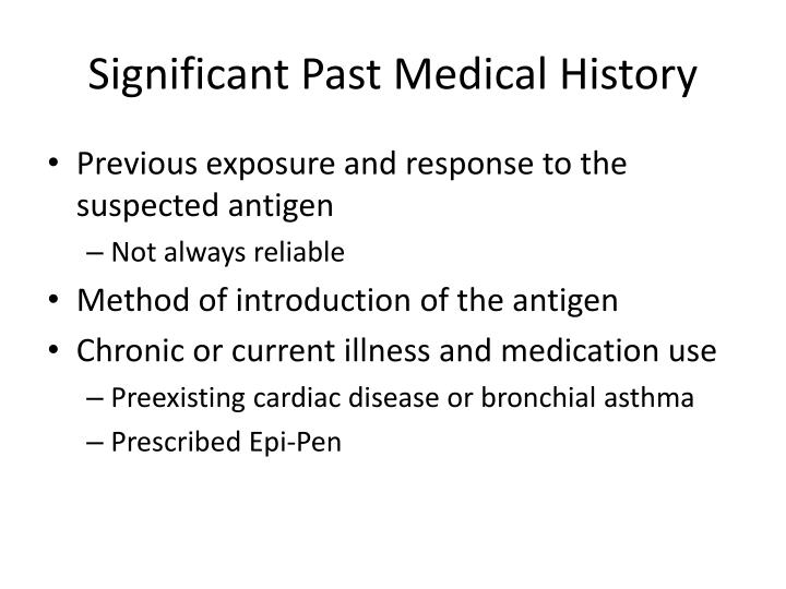 Significant Past Medical History
