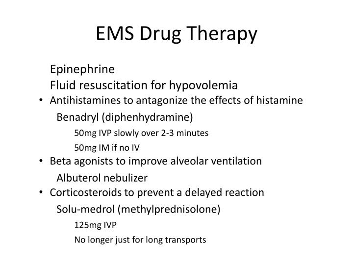 EMS Drug Therapy