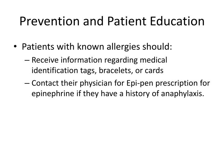Prevention and Patient Education