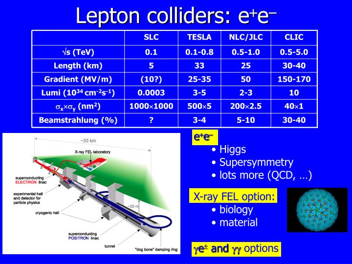 Lepton colliders: