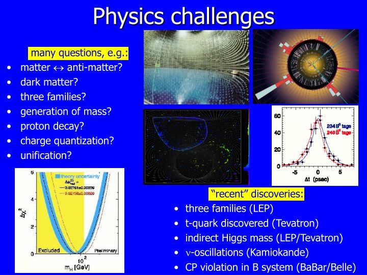 Physics challenges
