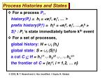 process histories and states