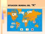 situacion mundial del k