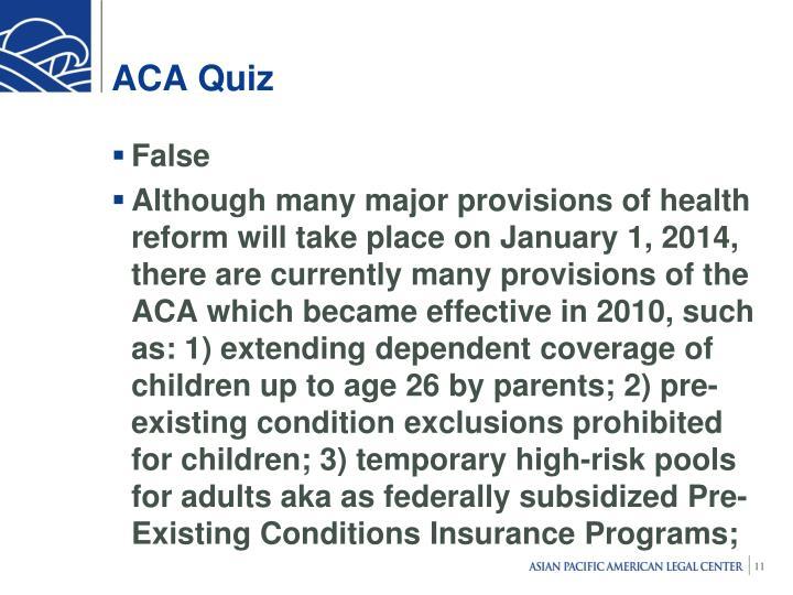 ACA Quiz