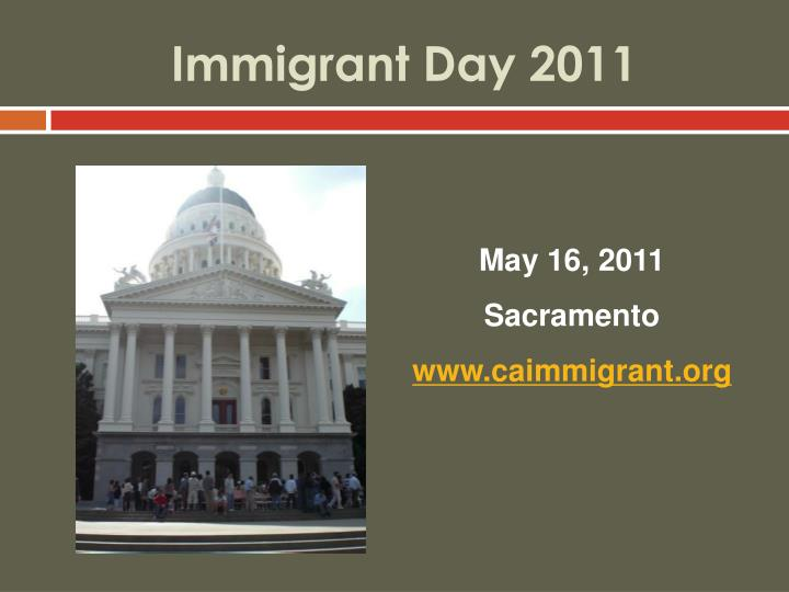 Immigrant Day 2011
