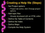 creating a help file steps