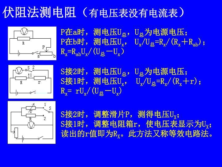 伏阻法测电阻(