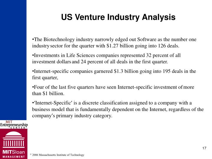 US Venture Industry Analysis