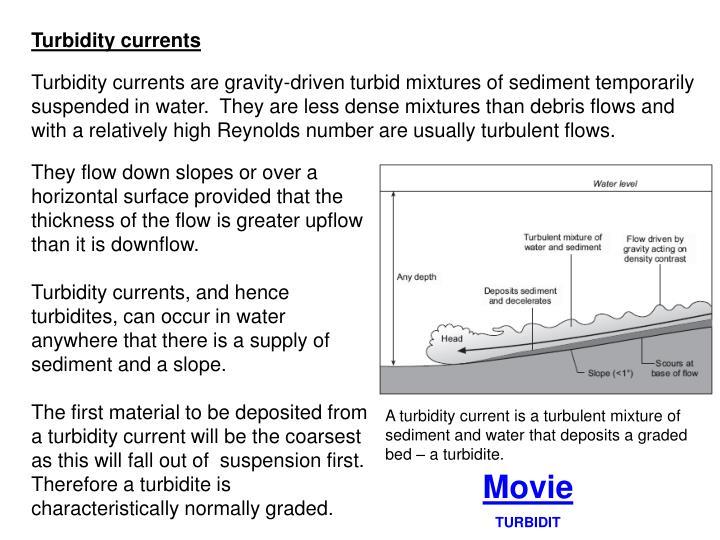Turbidity currents