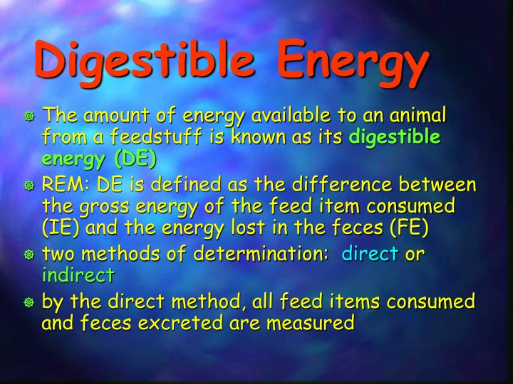 Digestible Energy