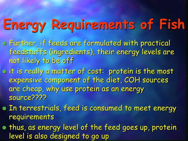 Energy Requirements of Fish
