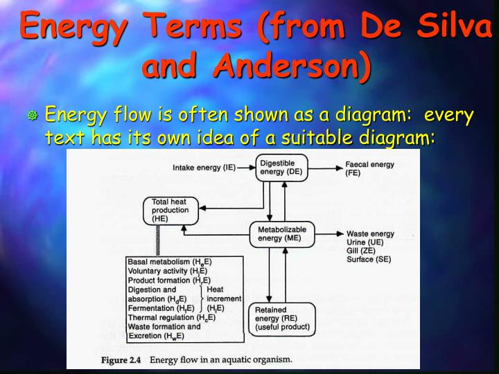 Energy Terms (from De Silva and Anderson)