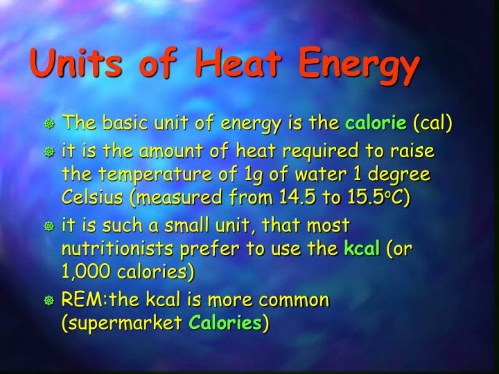 Units of Heat Energy