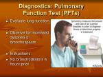 diagnostics pulmonary function test pfts