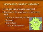 diagnostics sputum specimen