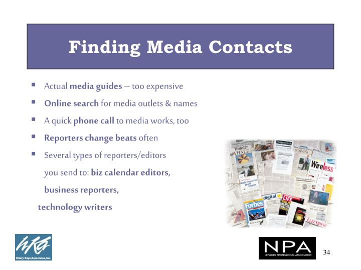 Finding Media Contacts