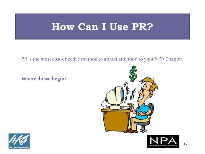How Can I Use PR?