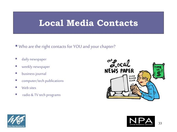 Local Media Contacts