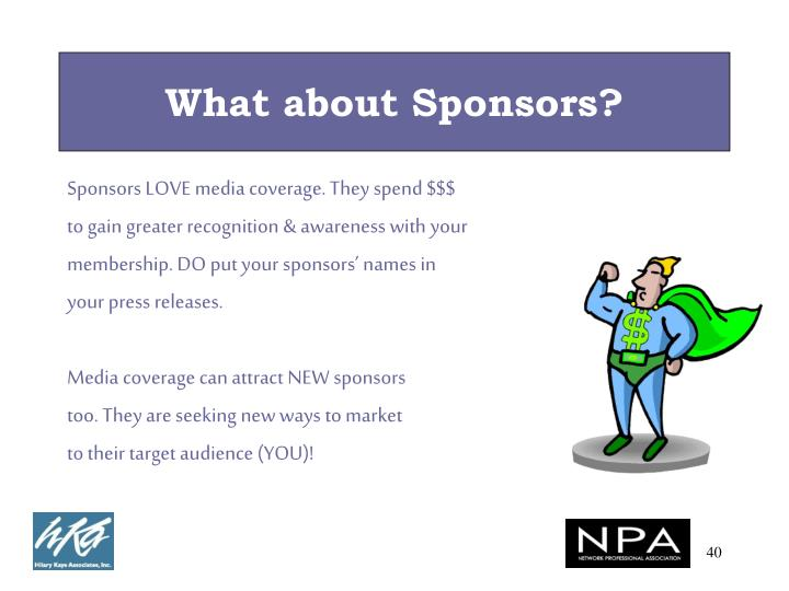 What about Sponsors?