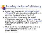 bounding the loss of efficiency