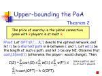 upper bounding the poa