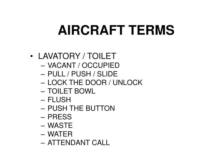 AIRCRAFT TERMS