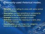 commonly used rhetorical modes