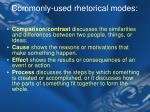 commonly used rhetorical modes1