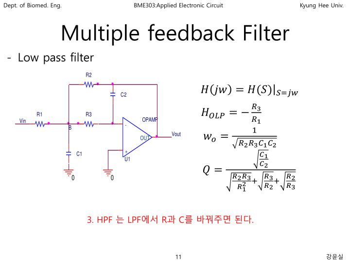 Multiple feedback Filter