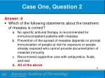case one question 21