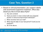 case two question 2