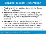 measles clinical presentation