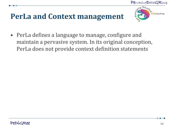 PerLa and Context management