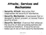 attacks services and mechanisms