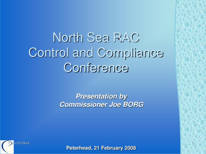 north sea rac control and compliance conference n.