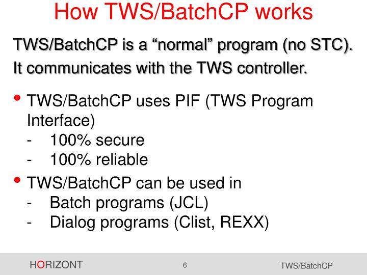 How TWS/BatchCP works