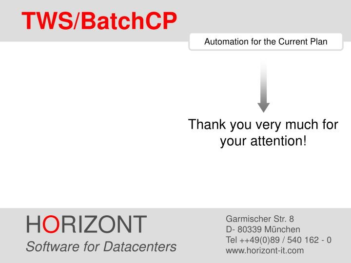 TWS/BatchCP