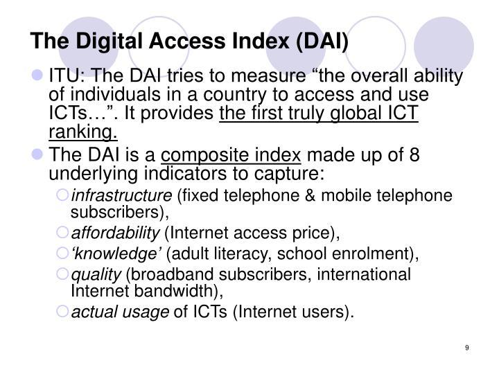 The Digital Access Index (DAI)